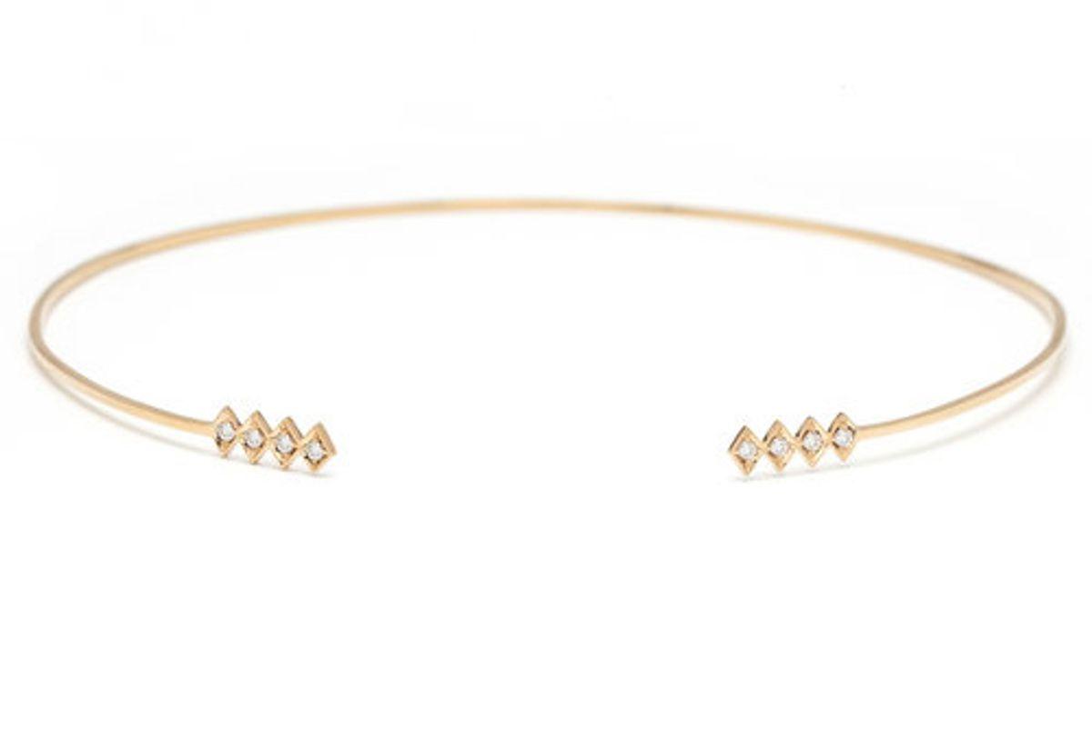 Single Burst Choker 18K Yellow Gold + Diamonds