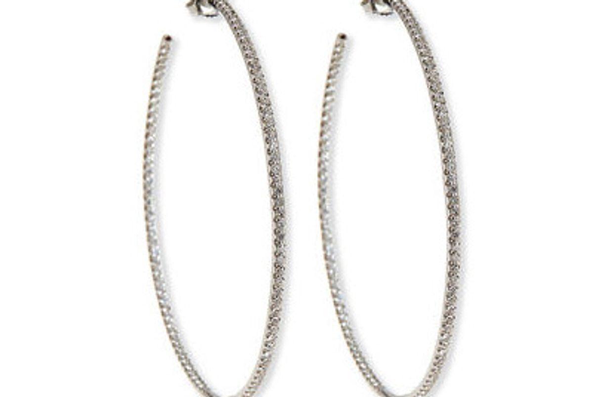 55mm Micro Diamond Hoop Earrings