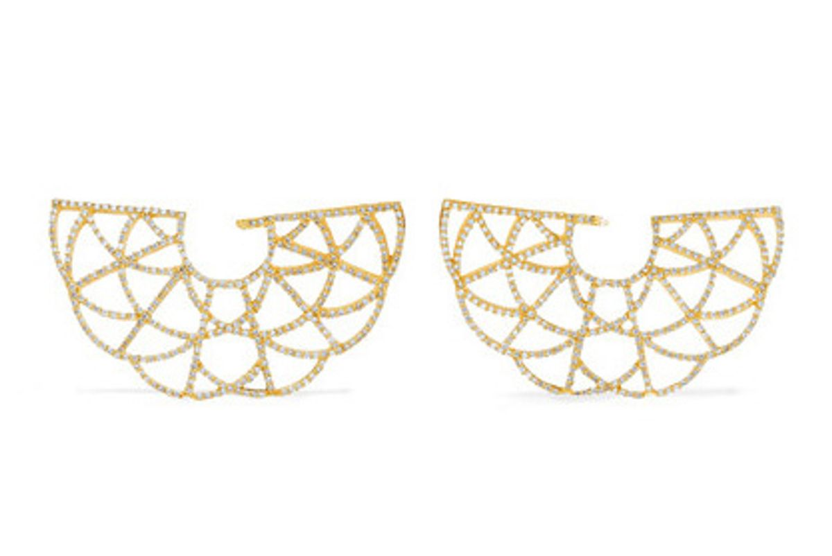 Zardozi 18-karat gold diamond earrings