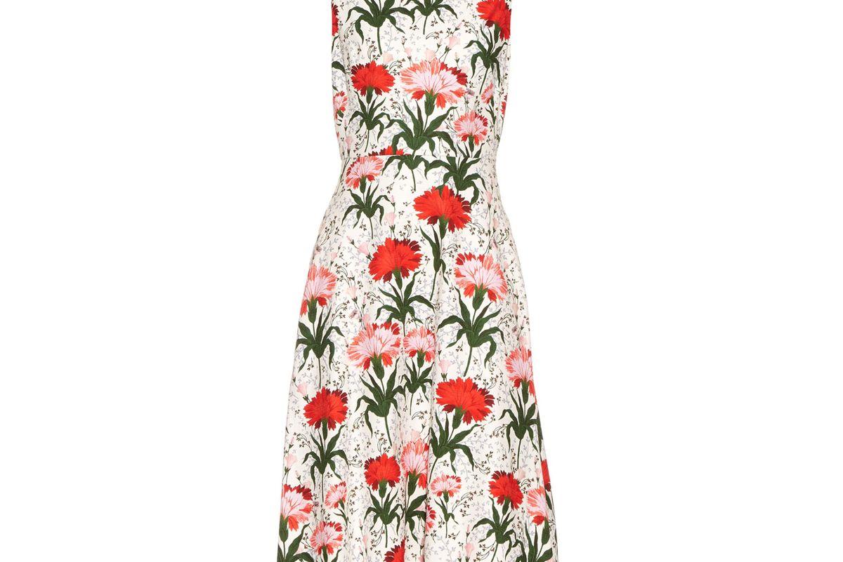 Maia Carnation-print sleeveless dress