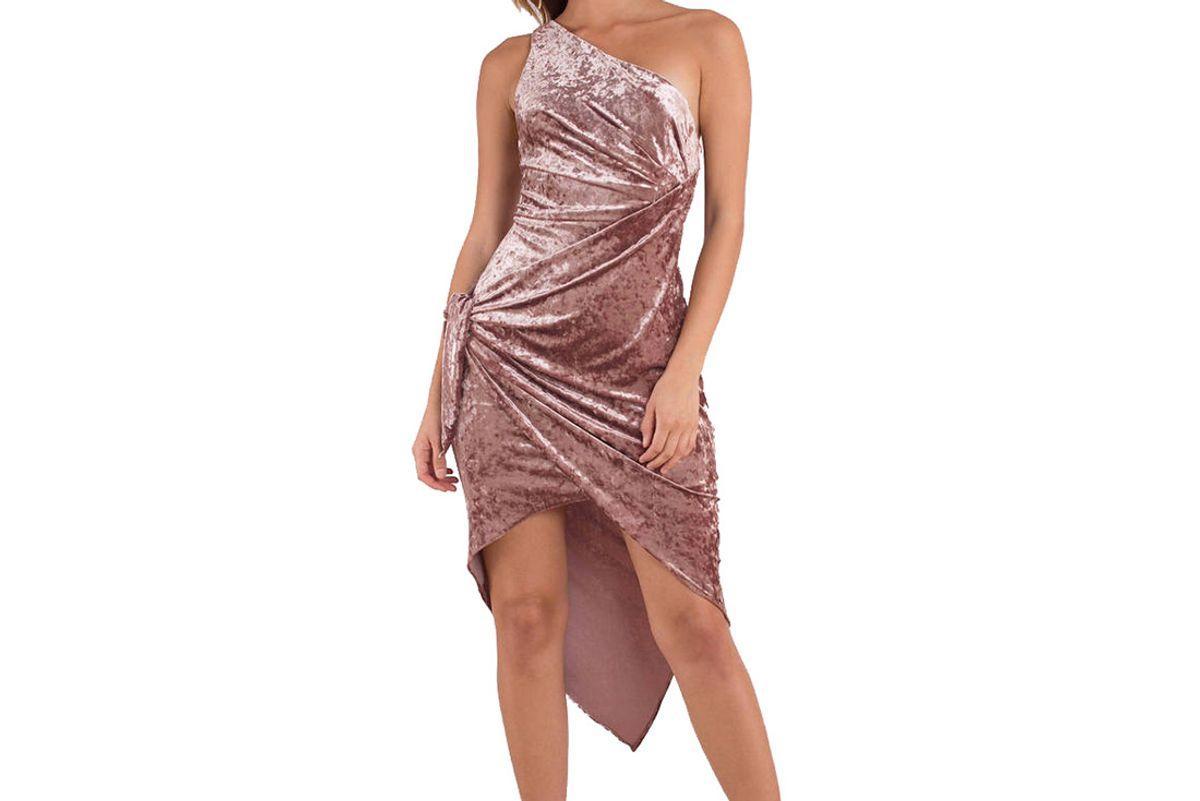 Stylestalker Sasha Rose One Shoulder Dress