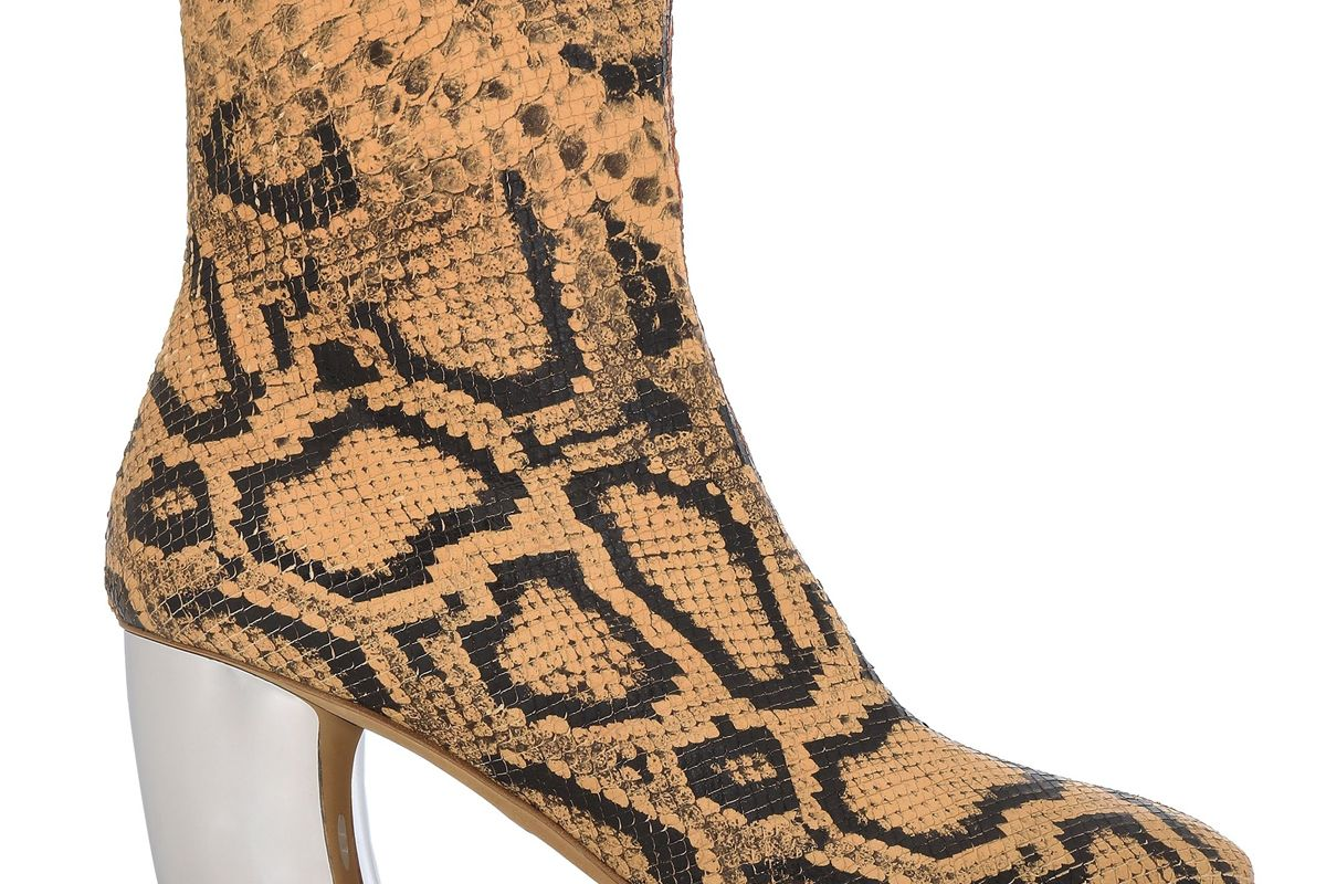 proenza schouler snake effect leather ankle boots