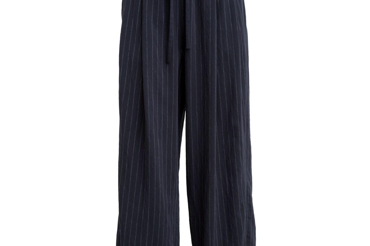 Striped Drawstring Crop Pants