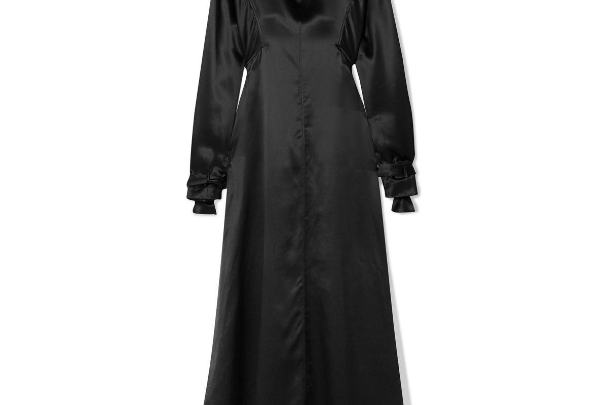 bite studios organic silk satin midi dress