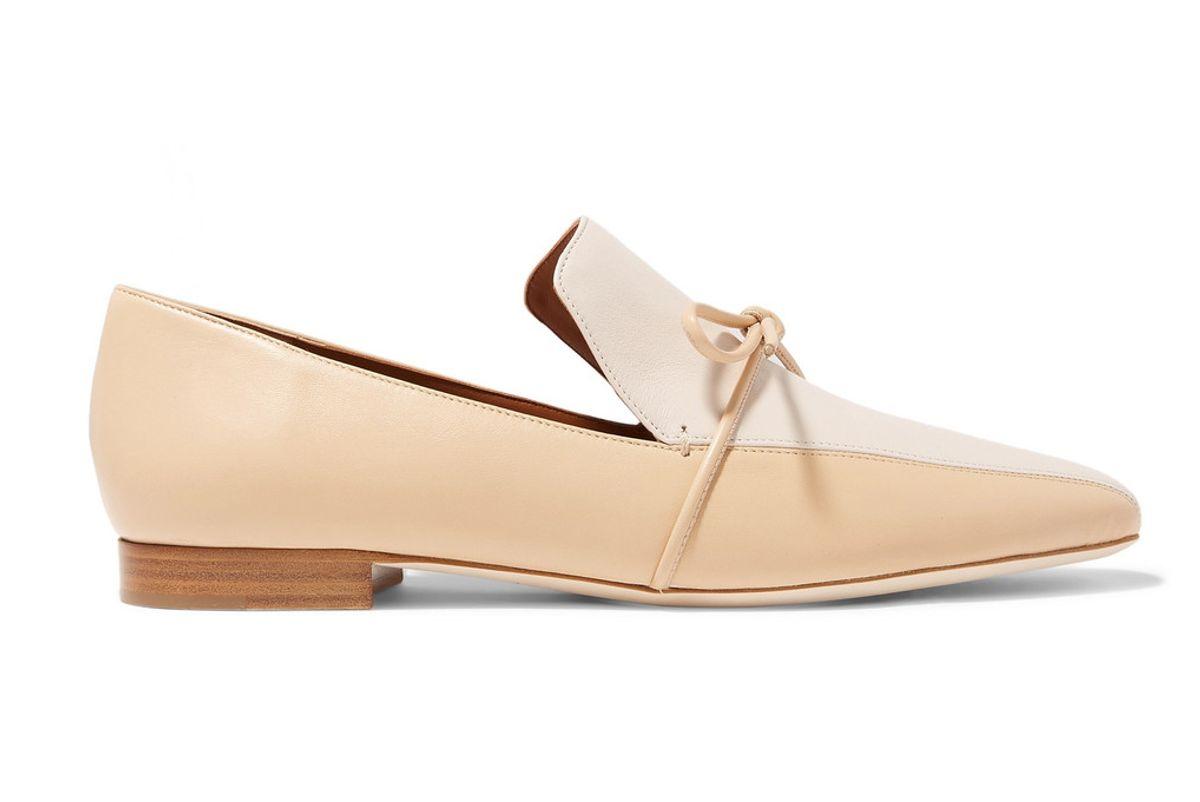 malone souliers roksanda marlene celia two tone leather loafers