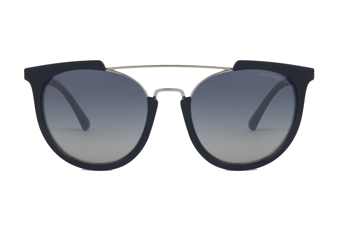 emporio armani sunglasses with cut out effect frame