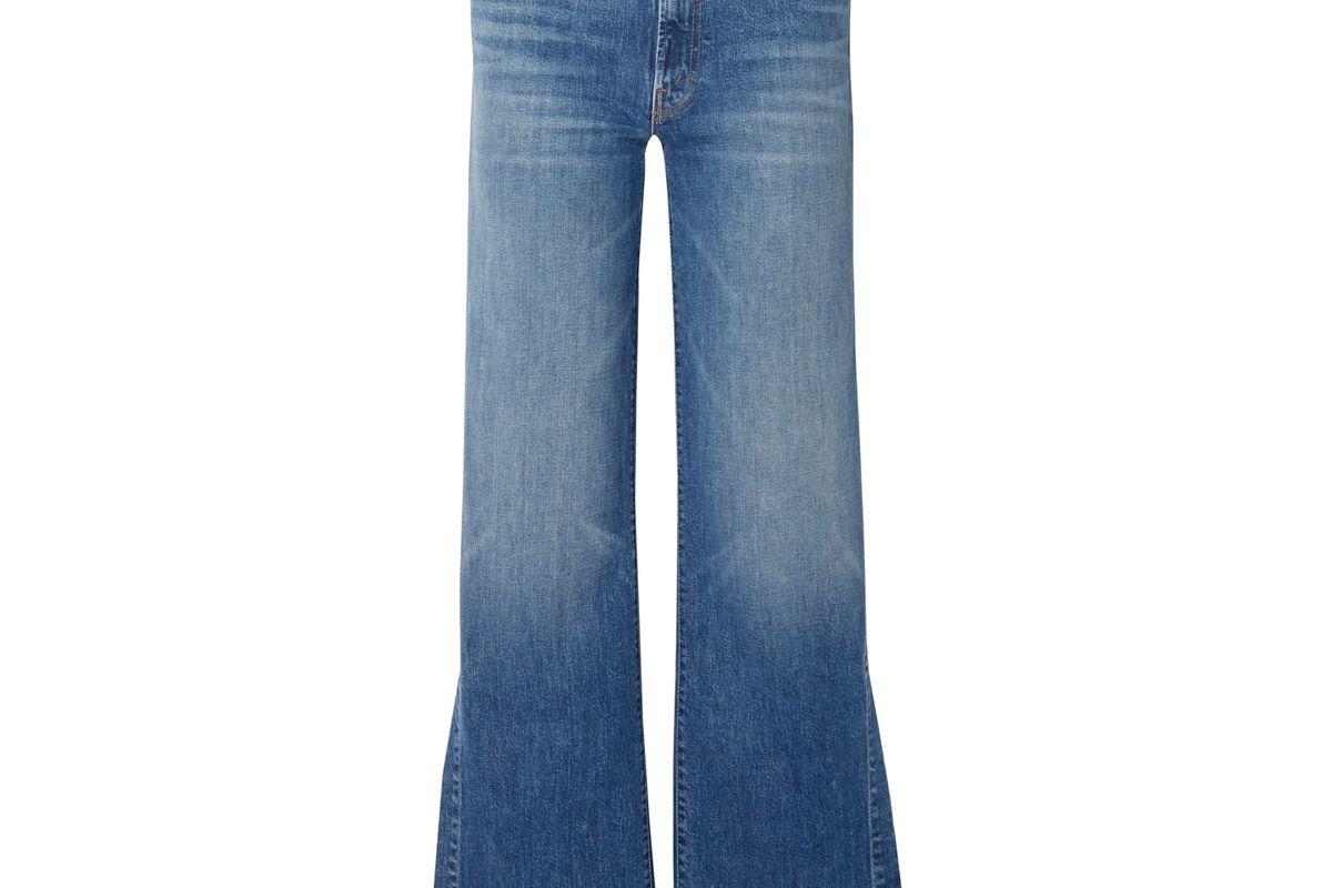 mother the hustler sidewinder high rise wide leg jeans