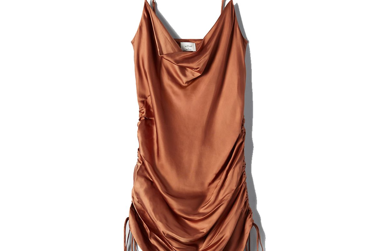 wilfred only ruched slip dress