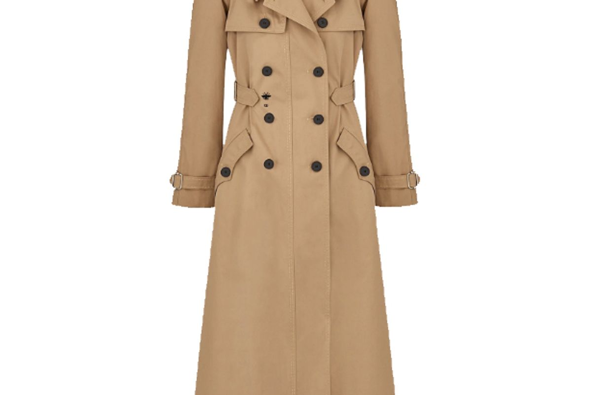 dior cotton trench coat