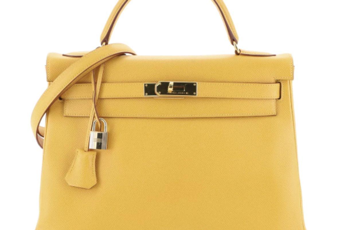 hermes kelly handbag jaune courchevel with gold hardware 32