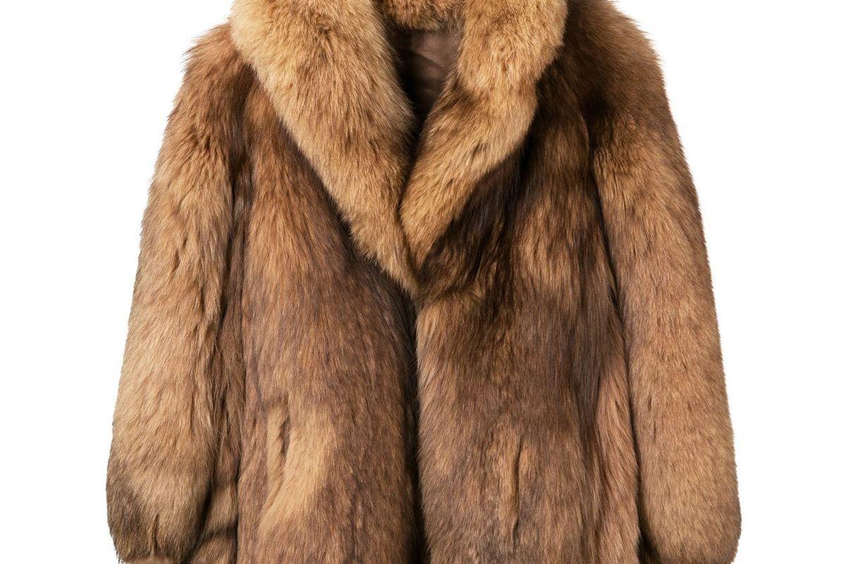 angelo vintage cult short fur coat