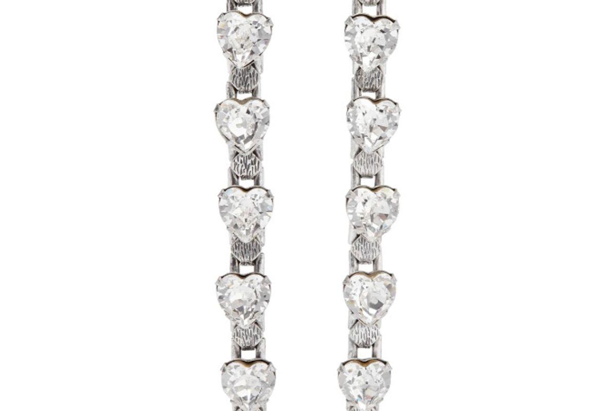 dannijo odette oxidized silver plated crystal earrings