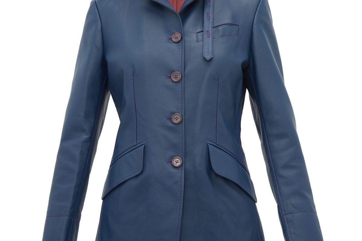 sies marjan bryce single breasted leather jacket