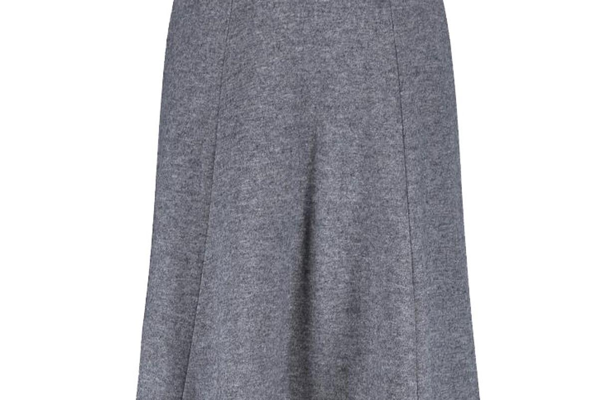 Women Wool-Blended Jersey Volume Skirt