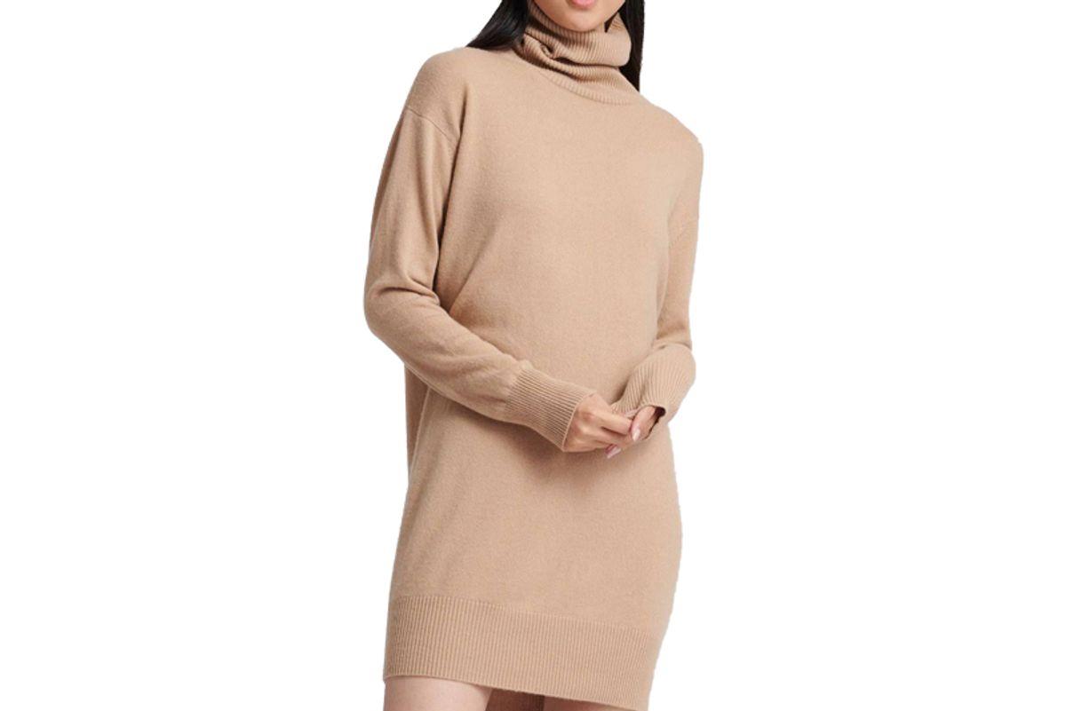 naadam cashmere turtleneck dress