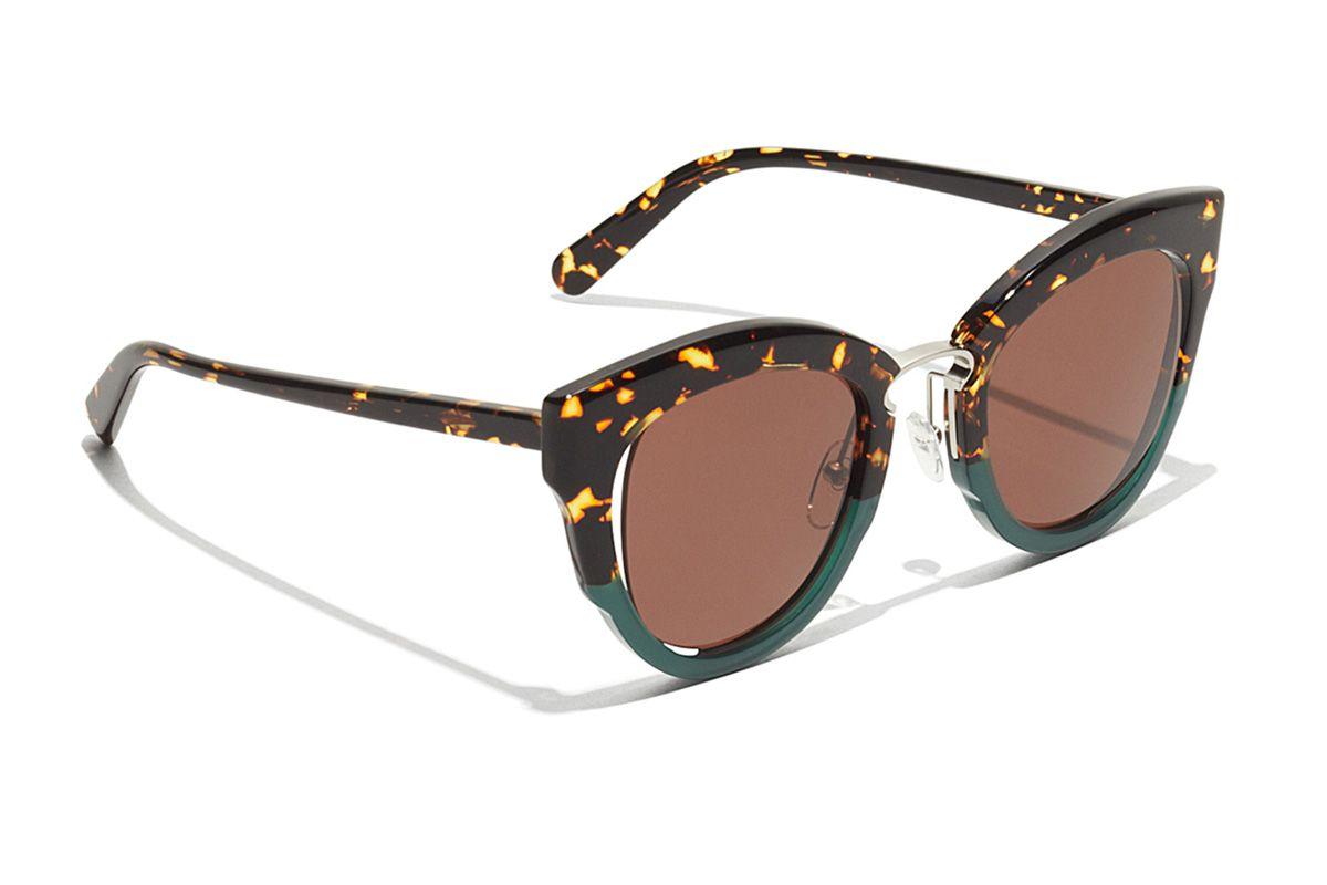 Cat Eye Sunglasses in Tortoise/Green