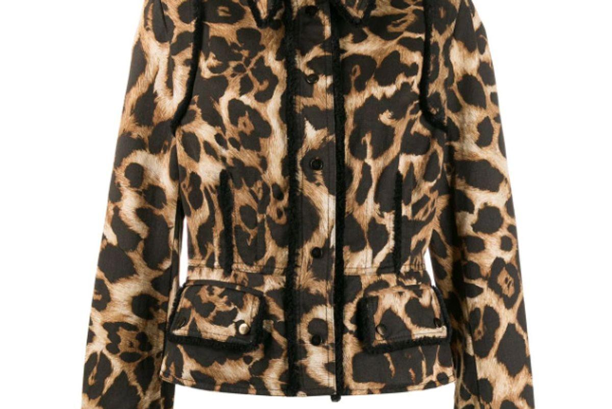 gianfranco ferre pre-owned 1990s leopard print jacket