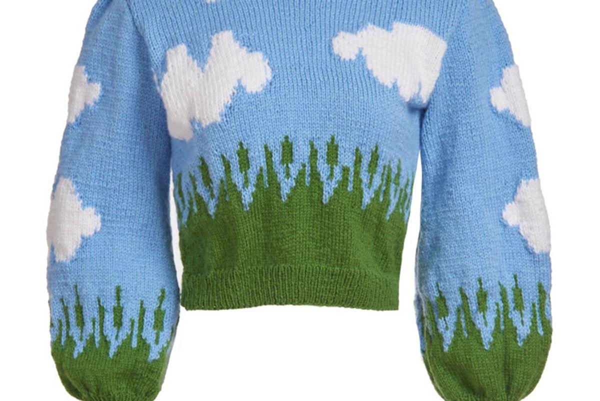 lirika matoshi clouds knit sweater