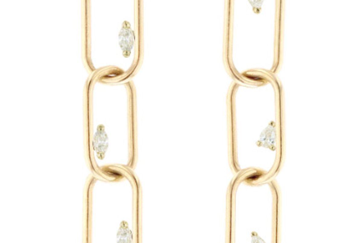 grace lee link earrings 3 with diamonds