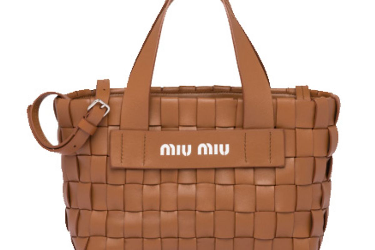 miu miu nappa leather handbag