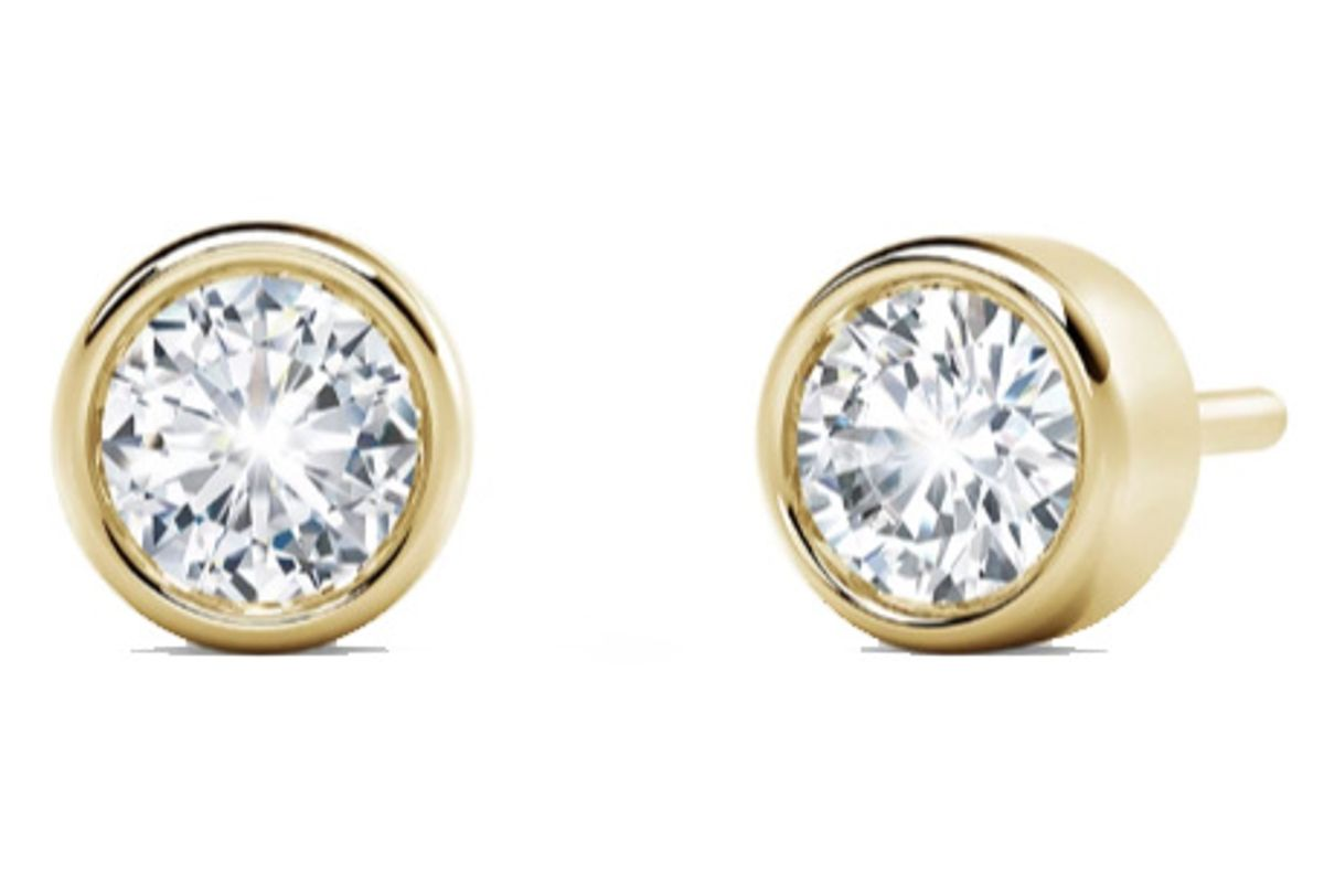 forevermark tribute collection bezel stud earrings