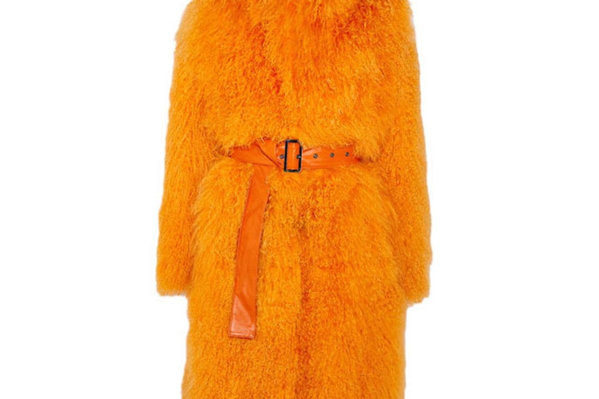 Rosti Belted Shearling Coat