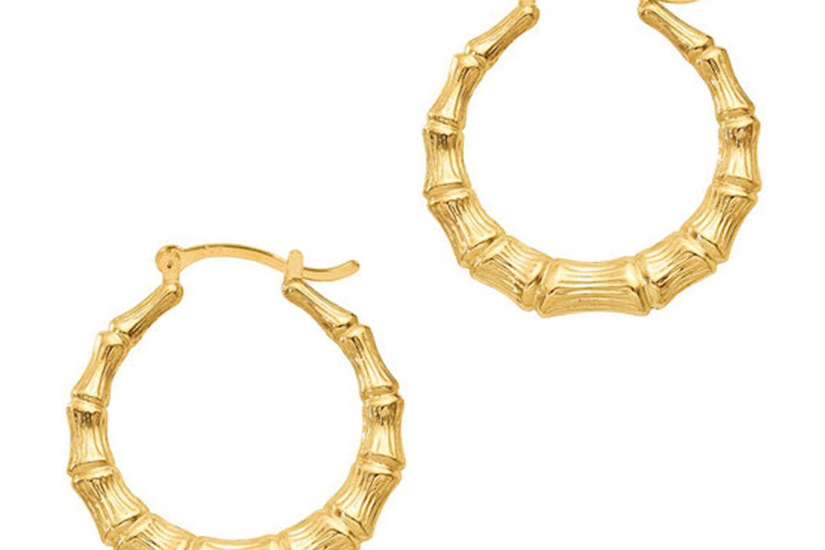 the m jewelers the bamboo hoop earring