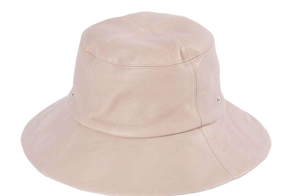 clyde lambskin bucket hat in peony