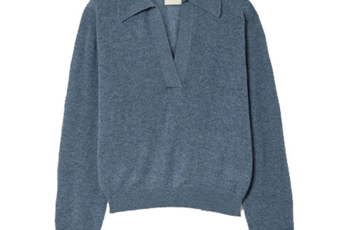 khaite jo cashmere blend sweater
