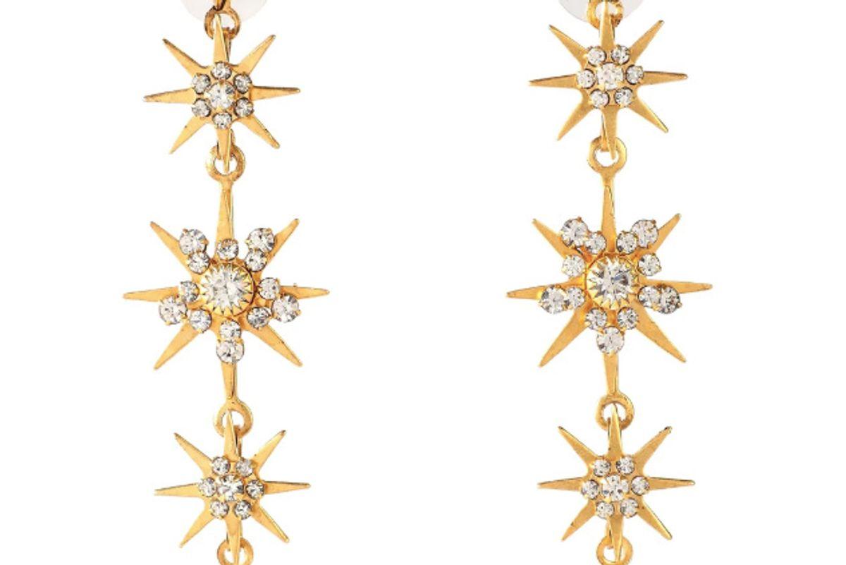elizabeth warren 24 karat gold plated swarovski crystal earrings