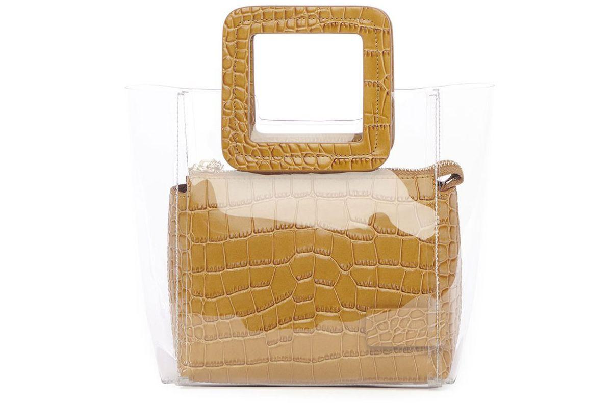 staud mini clear bag