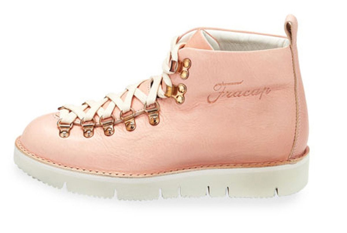 fracap leather high top sneaker