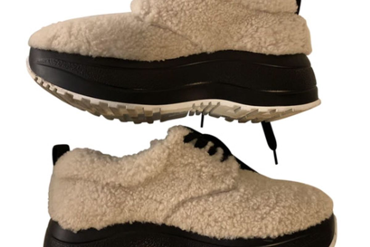 celine delivery shearling trainers