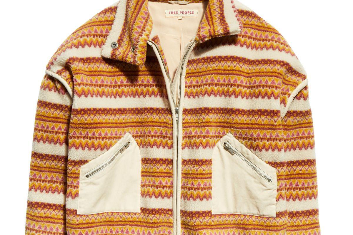 free people golden hour fleece dolman jacket