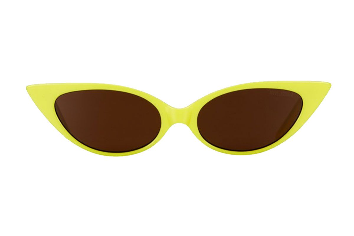 poppy lissiman yellow coco husk sunglasses