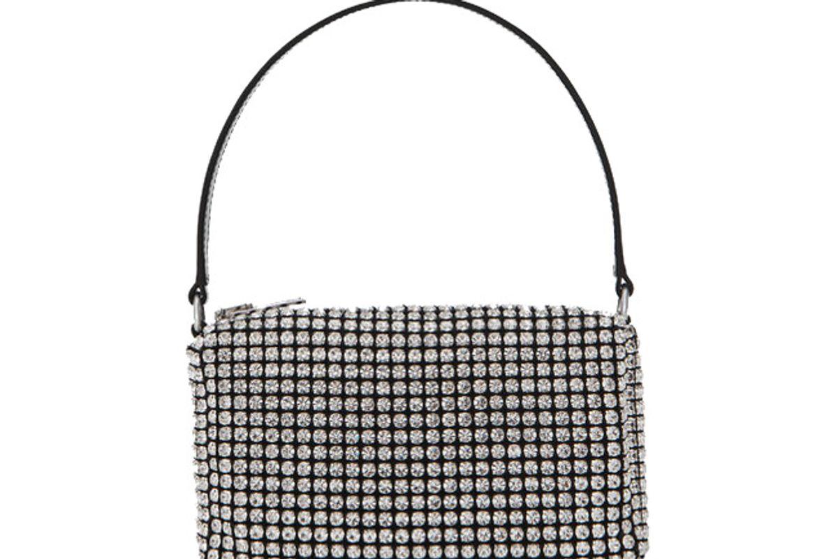 alexander wang chain mesh rhinestone pouch
