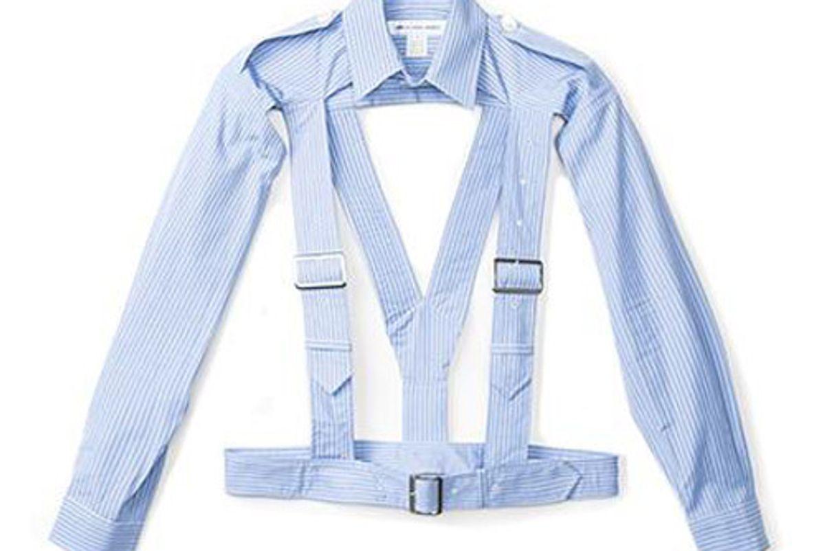 comme des garcons w27004 shirt harness