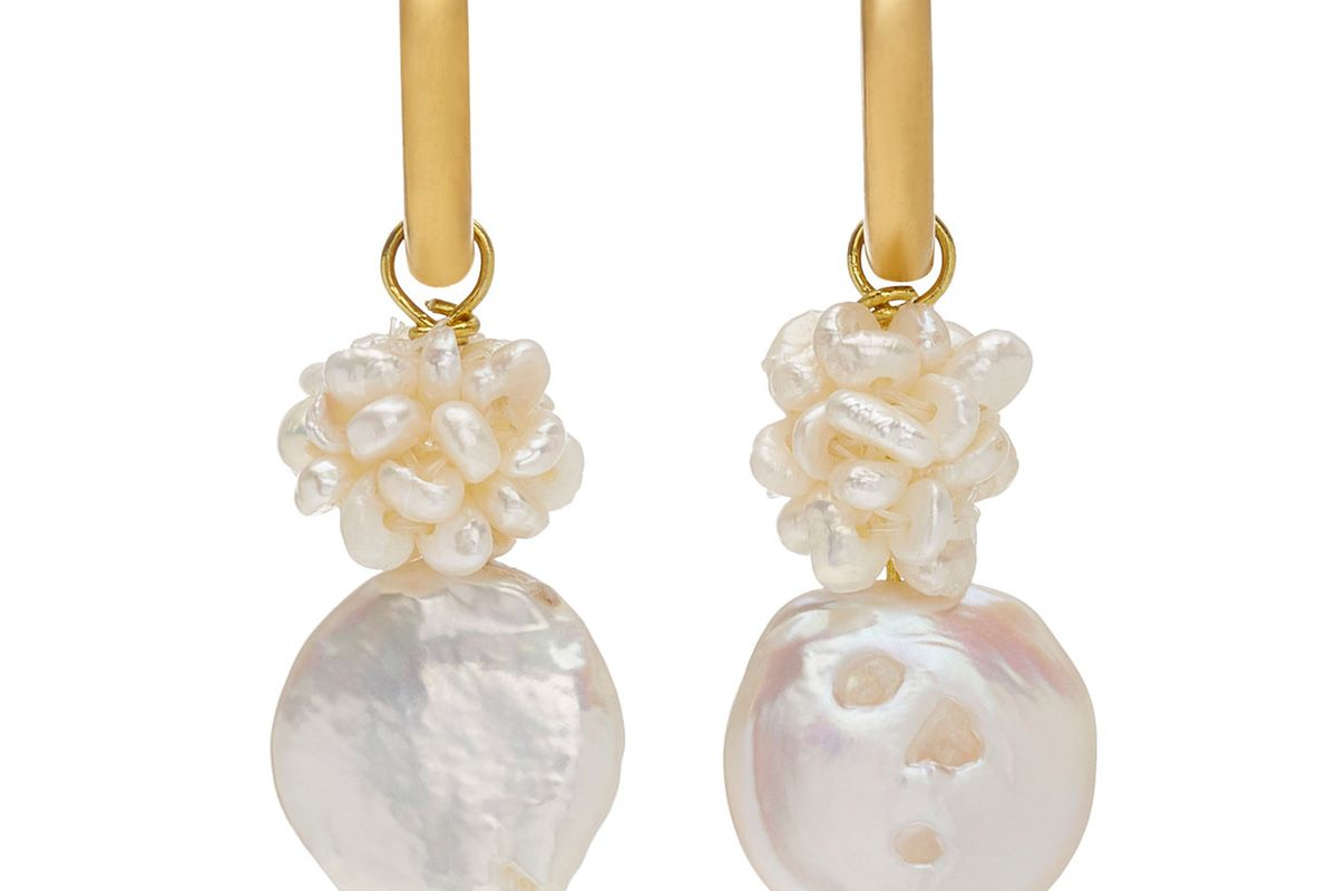 sandralexandra gigi 10k gold plated faux pearl earrings