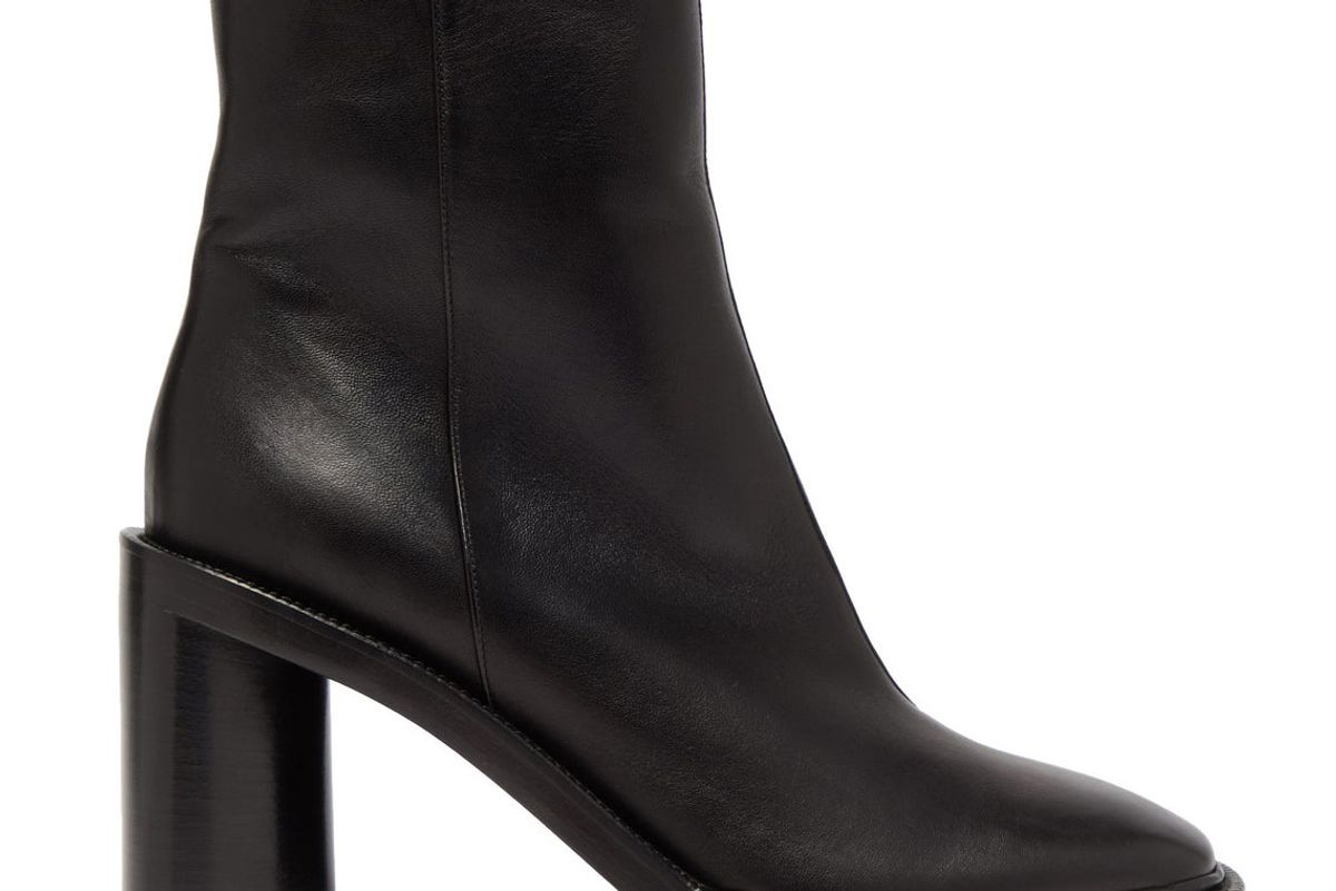 acne studios booker square toe leather ankle boots