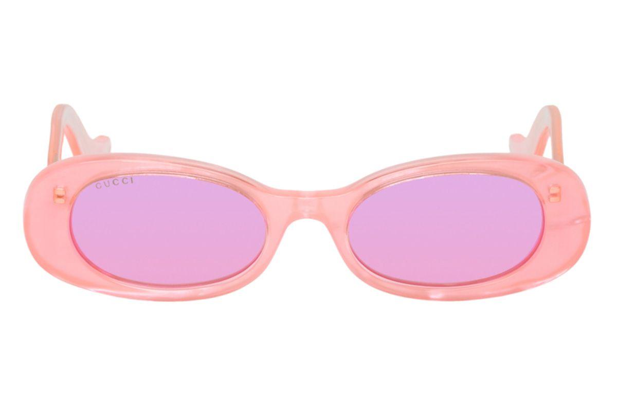 gucci pink oval sunglasses