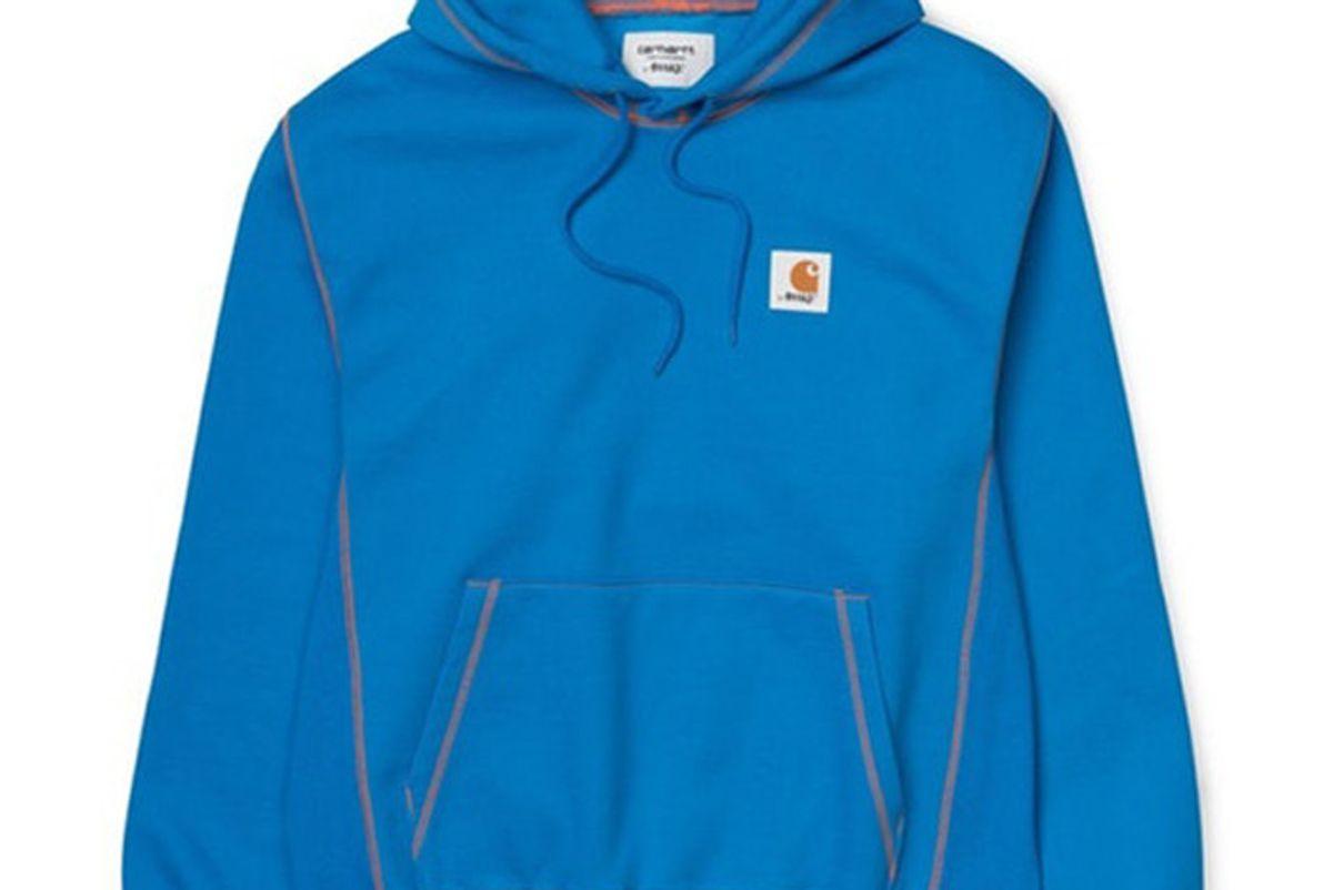 awake x carhartt wip classic sweatshirt blue