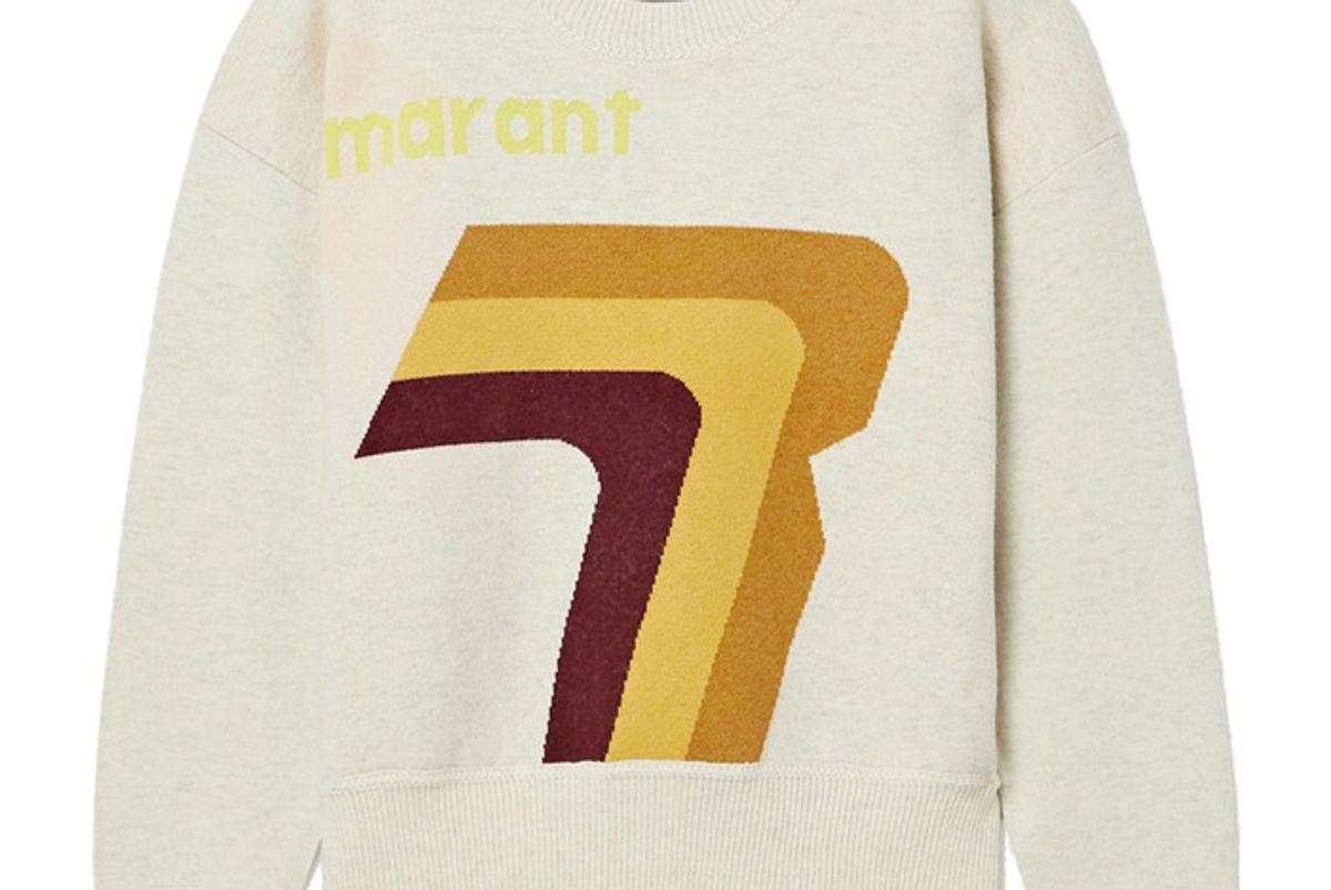 isabel marant etoile klero intarsia cotton blend sweater