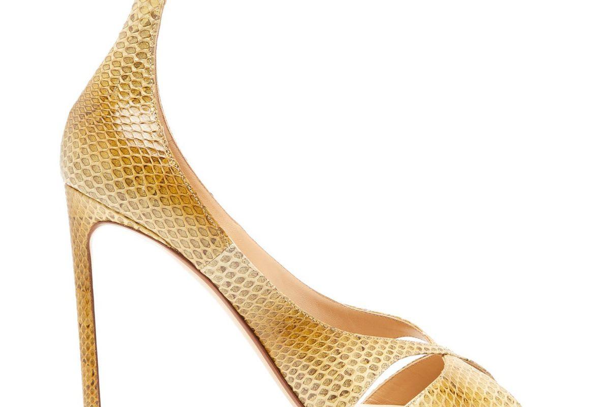 francesco russo snakeskin stiletto sandals