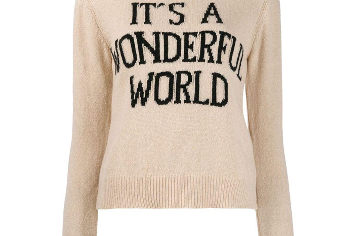 alberta ferretti its a wonderful world jumper