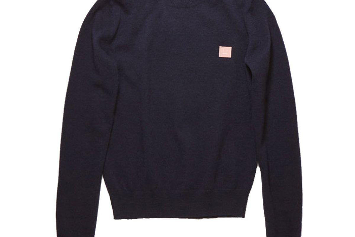 acne studios crewneck sweater navy pink