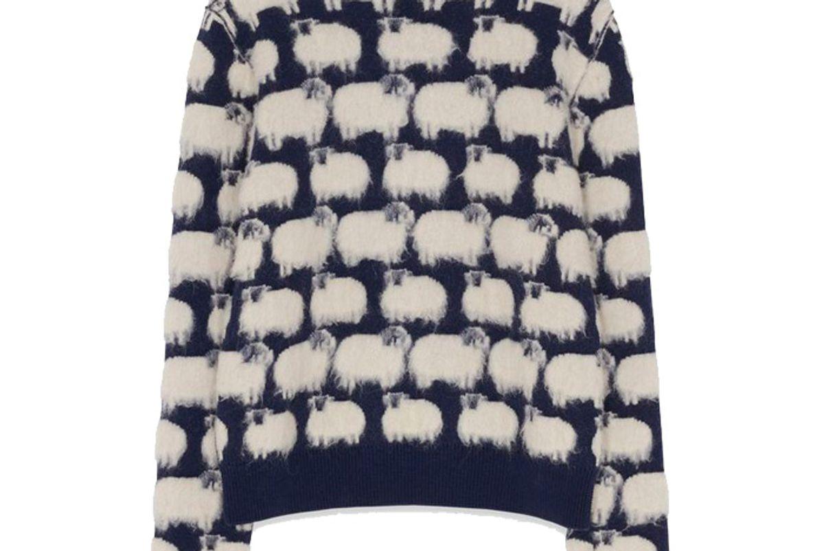 lanvin patterned wool jumper