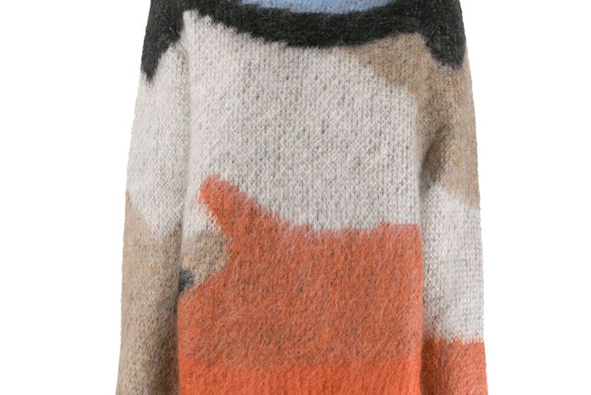 ambush intarsia knit jumper