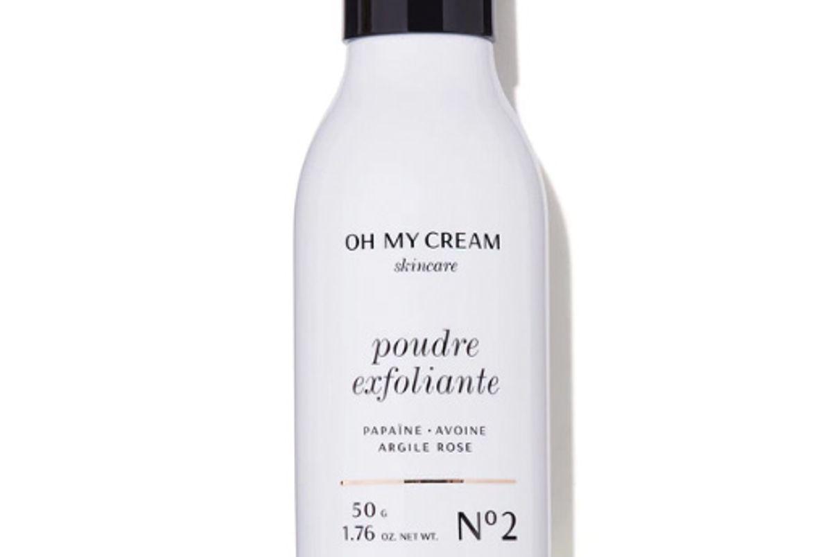 oh my cream exfoliating powder