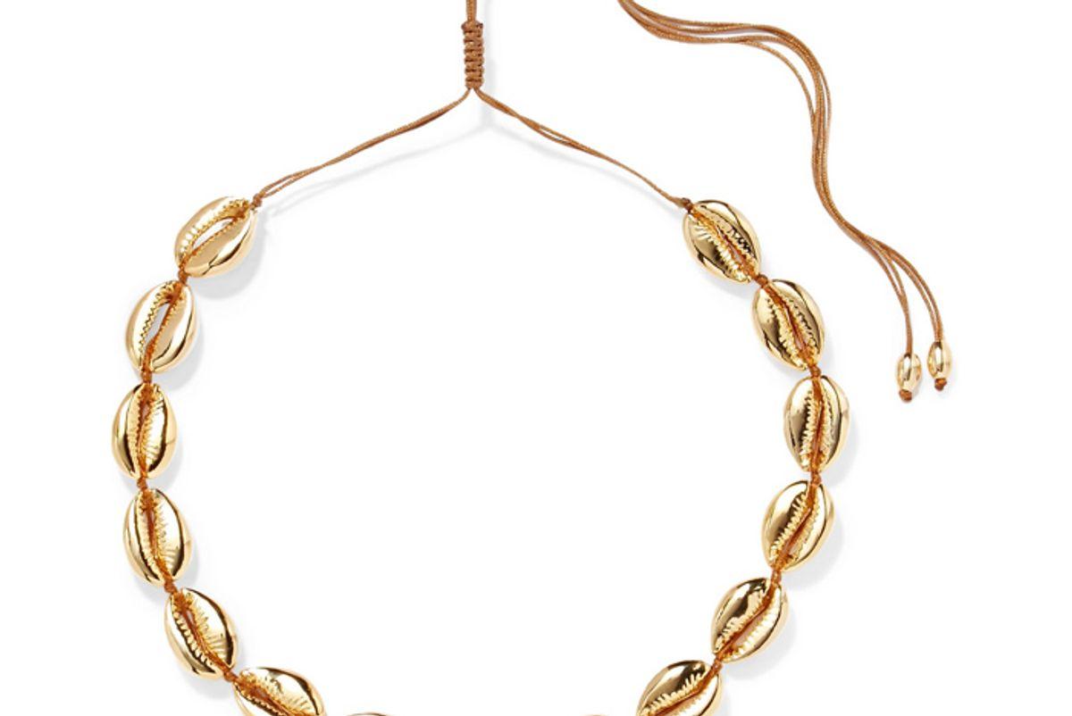tohum large puka gold plated necklace