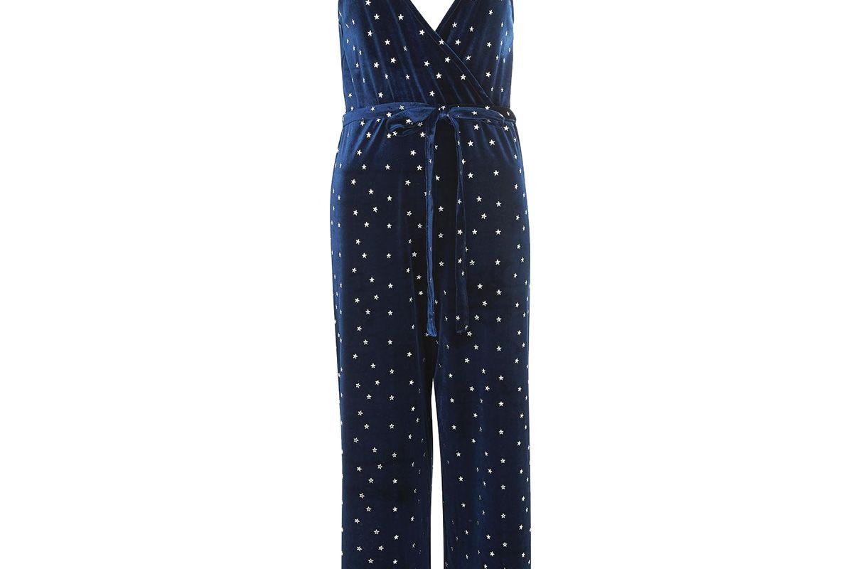 Star Velvet Wrap Jumpsuit